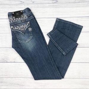 Miss Me Boot Cut Jeweled Blue Jeans